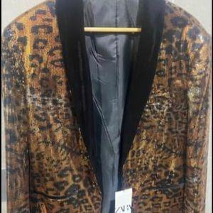 Zara Men leopard suit brand new